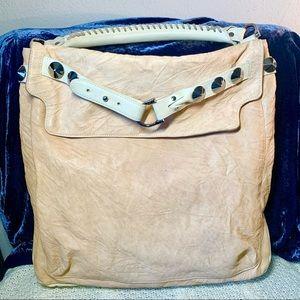 Be&D Woodstock Leather Studded Shoulder Hobo Bag